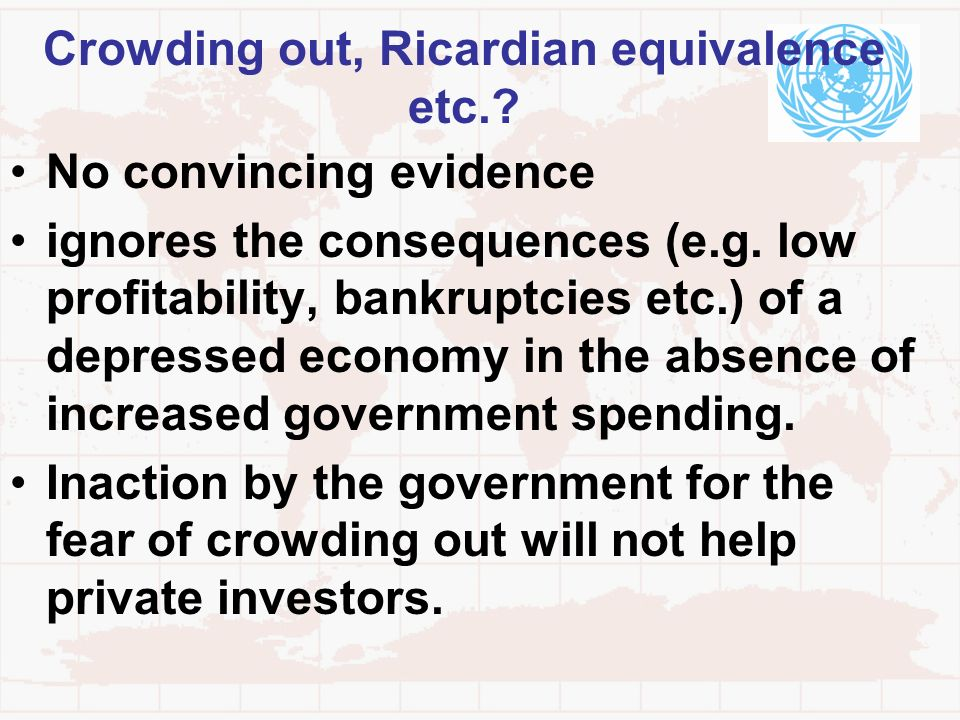 Crowding out, Ricardian equivalence etc.