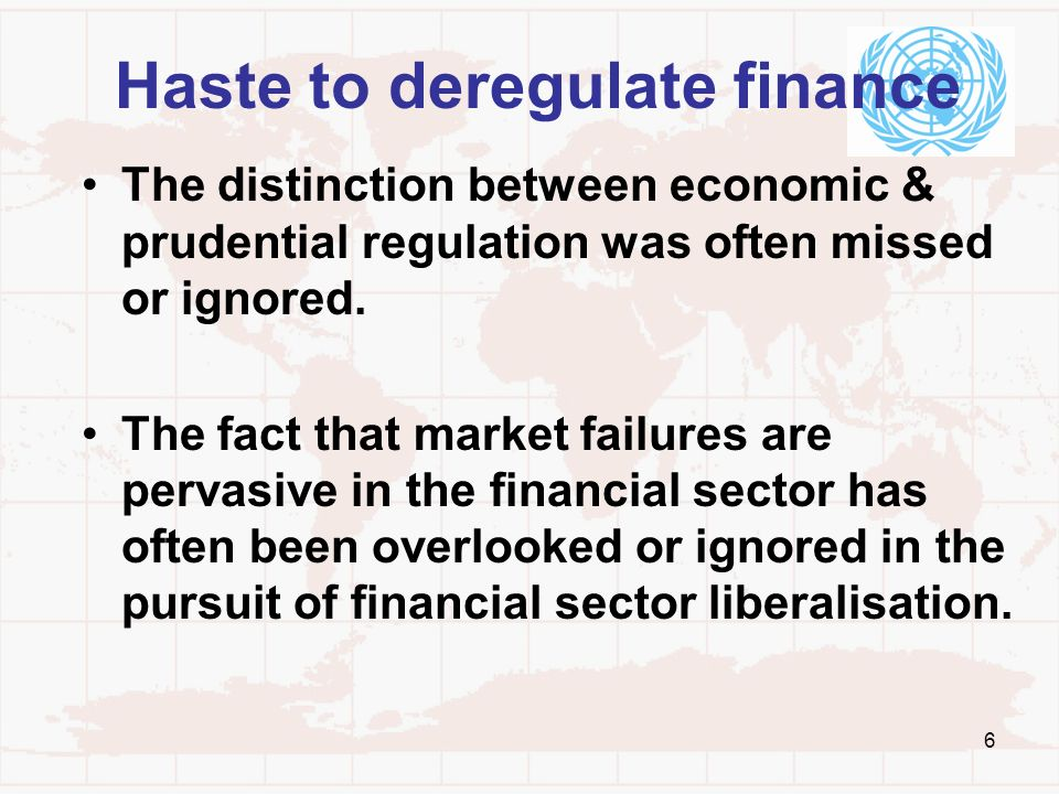 Haste to deregulate finance