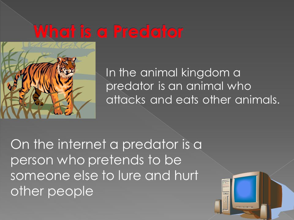 What is a Predator In the animal kingdom a predator is an animal who attacks and eats other animals.