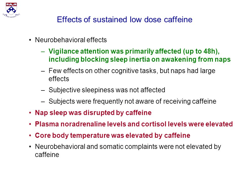 the effects of caffeine on cognitive performance