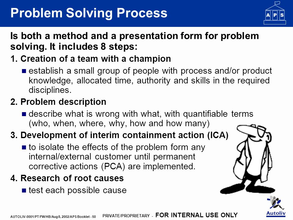 problem solving essay steps 5-step problem solving process life is a paradox of solving problems whether in business or politics, people confront varying challenges daily.