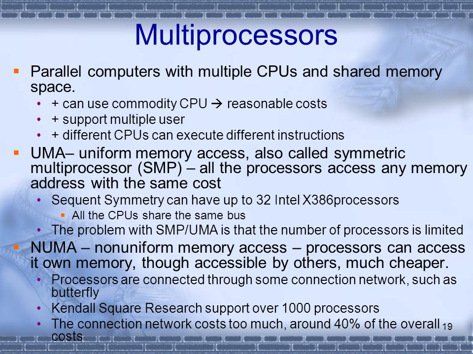 numa and uma and shared memory multiprocessors computer science essay Home documents introduction to high performance scientific computing please download to view.