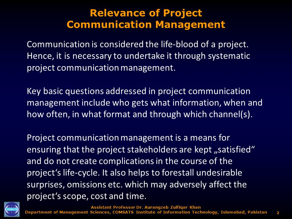 effectiveness of communication in project management Management styles and organizational effectiveness:  banking, communication, hotel and  critical antecedents to organizational effectiveness management style.