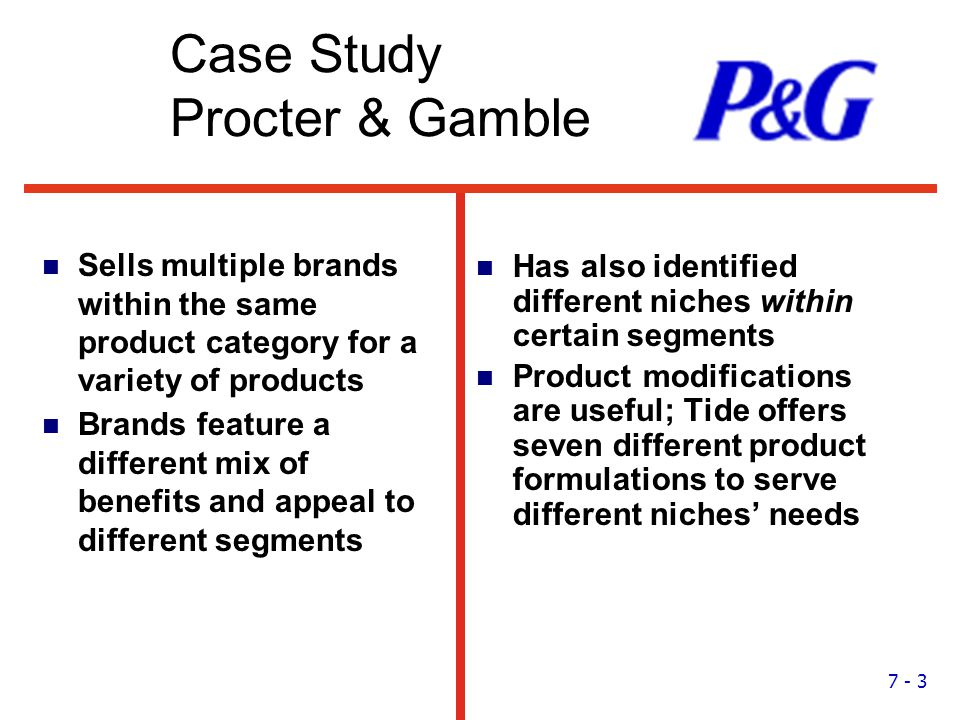 proctor gamble case analysis Procter & gamble's marketing mix or 4ps (product, place, promotion, & price) are analyzed, with recommendations, in this consumer goods business case study.