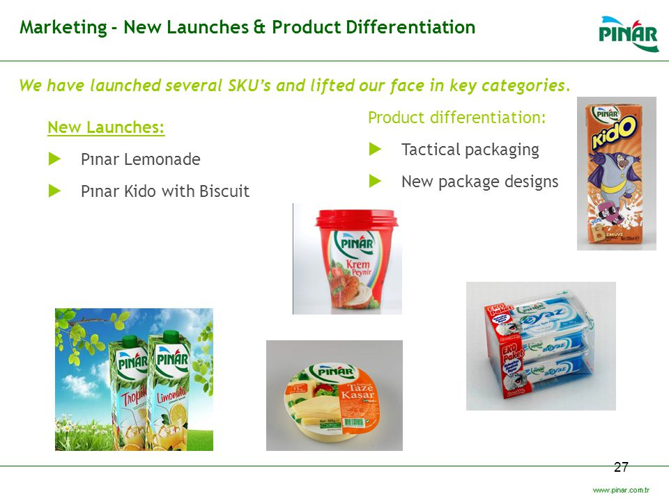 Marketing - New Launches & Product Differentiation