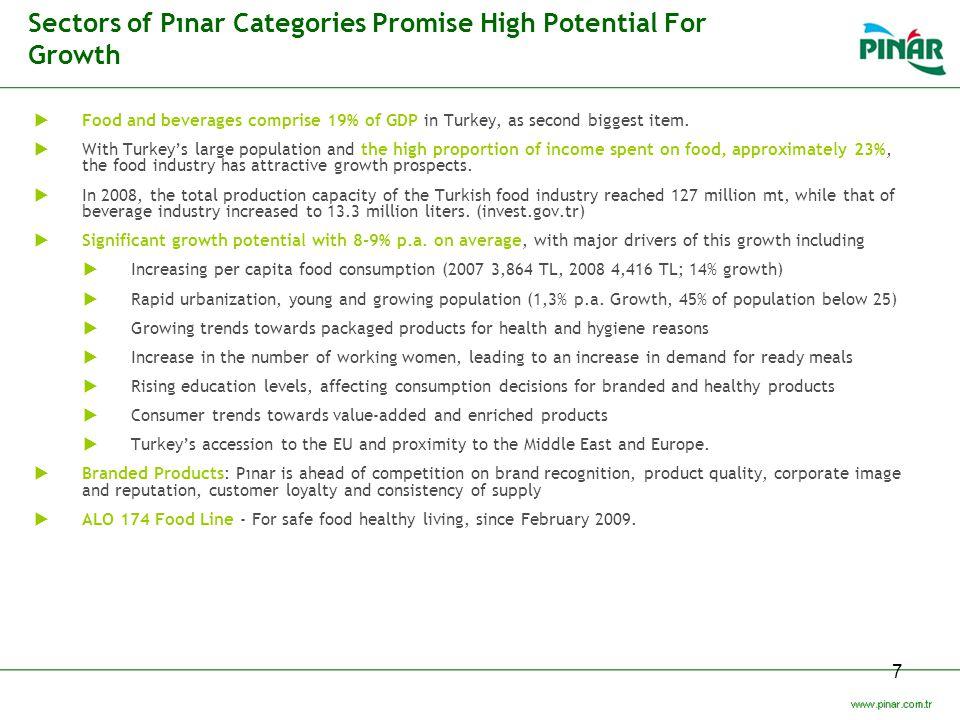 Sectors of Pınar Categories Promise High Potential For Growth