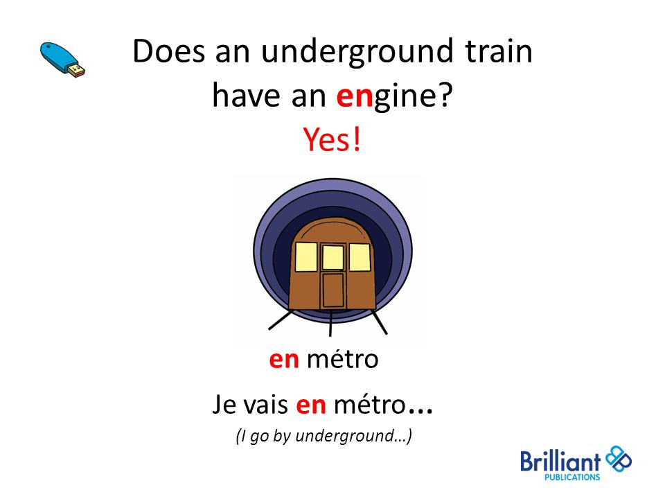 Does an underground train have an engine Yes!