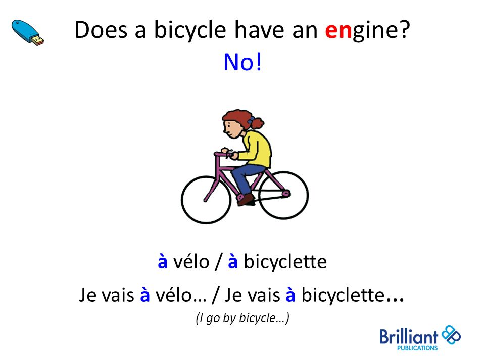 Does a bicycle have an engine No!