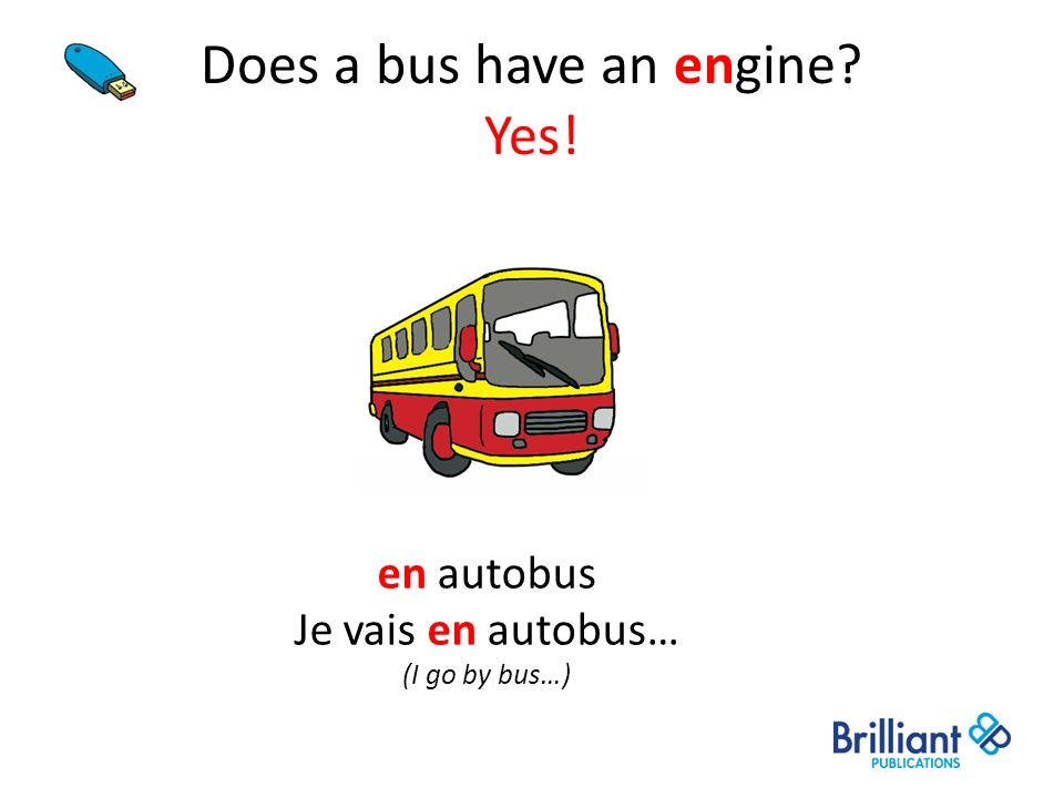 Does a bus have an engine Yes!