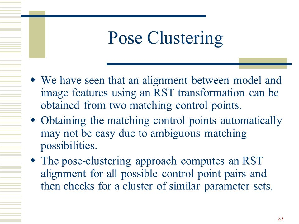 Pose Clustering
