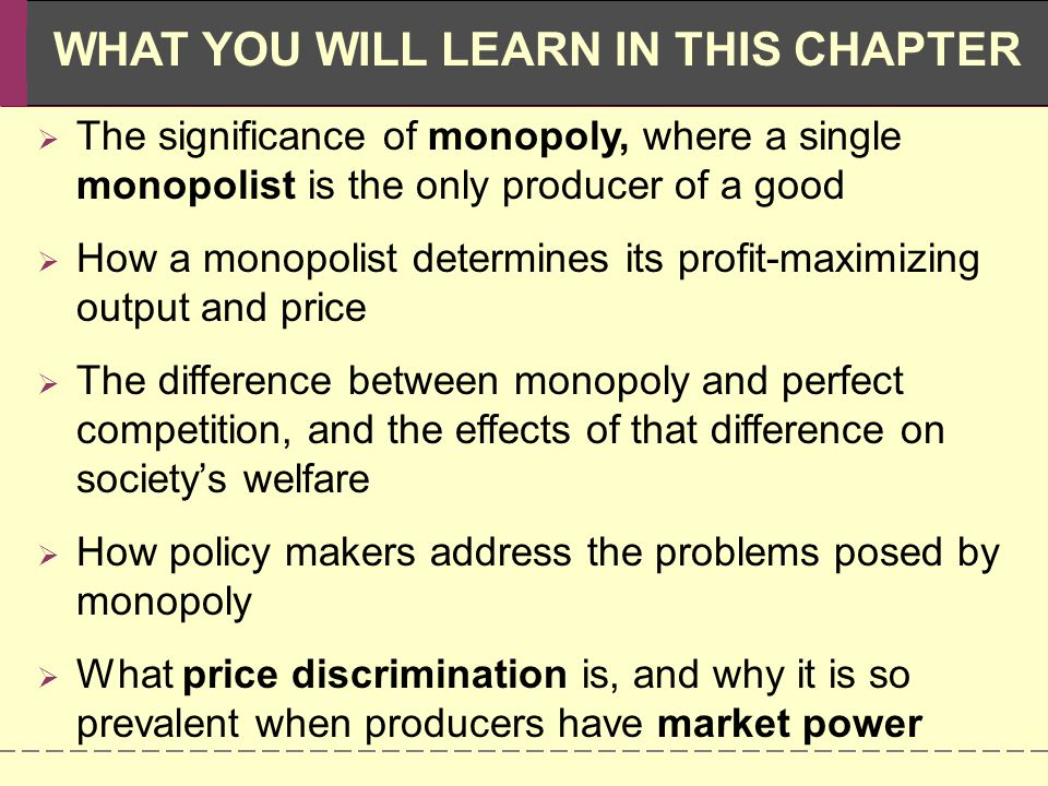 understanding a monopoly industry and its impact A monopoly is a situation in which  a company that dominates a business sector or industry can use that dominance to its  find out how these systems impact the.