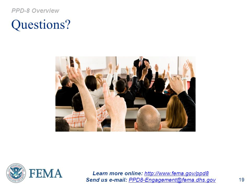 Questions PPD-8 Overview Learn more online: