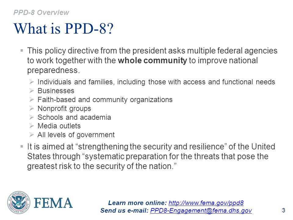 PPD-8 Overview What is PPD-8