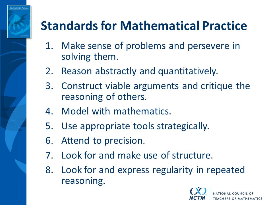 nctm principles to actions  turning standards into
