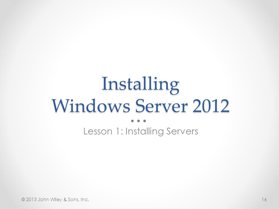 Installing Windows Server 2012