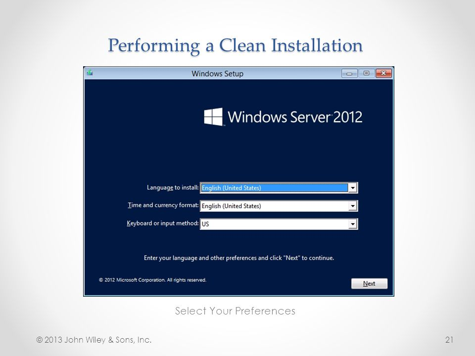 Performing a Clean Installation