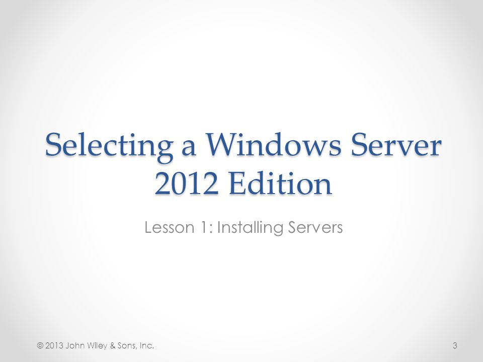 Selecting a Windows Server 2012 Edition