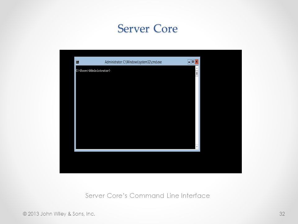 Server Core's Command Line Interface
