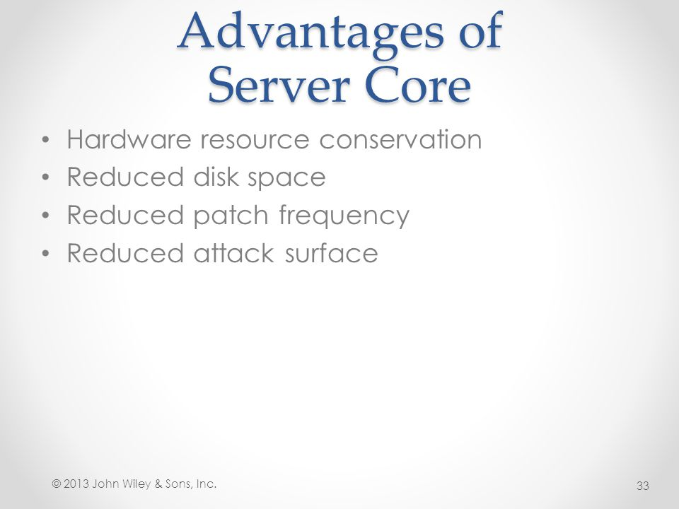 Advantages of Server Core