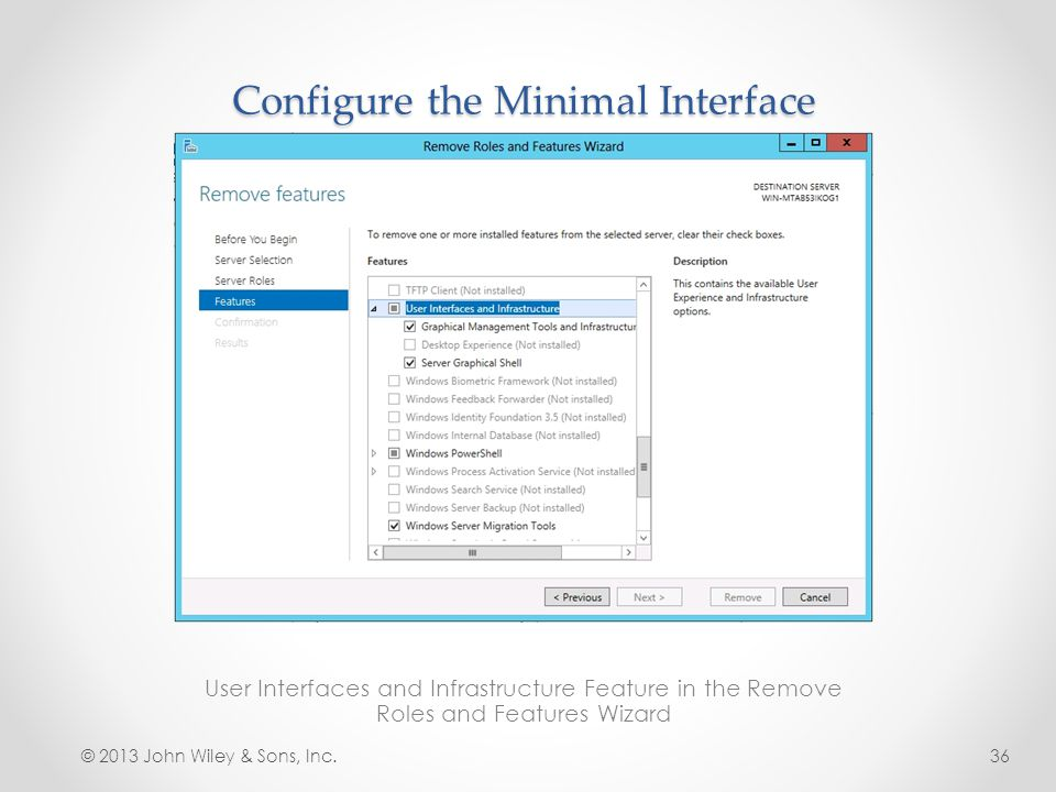 Configure the Minimal Interface