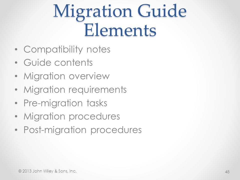 Migration Guide Elements