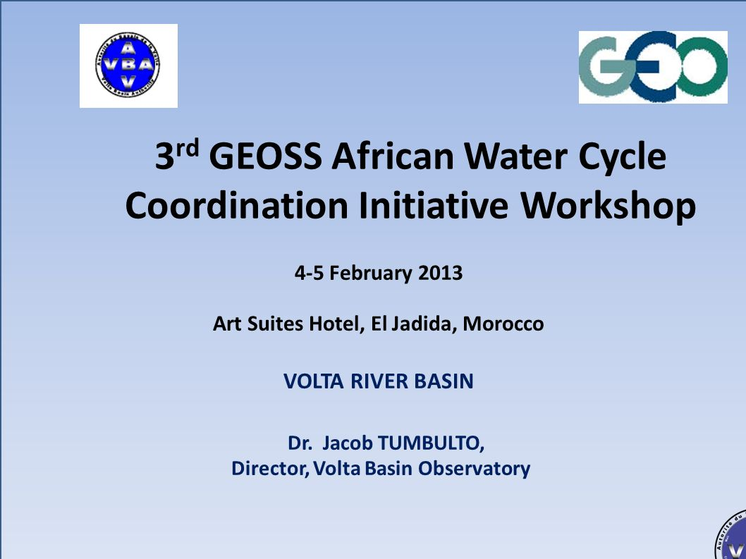 3rd GEOSS African Water Cycle Coordination Initiative Workshop