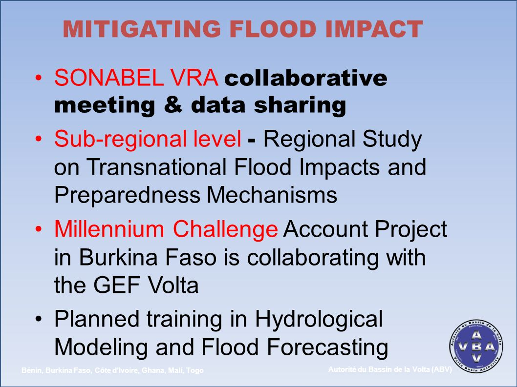 MITIGATING FLOOD IMPACT