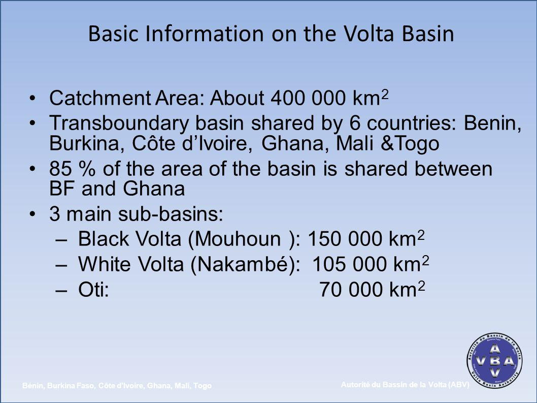 Basic Information on the Volta Basin