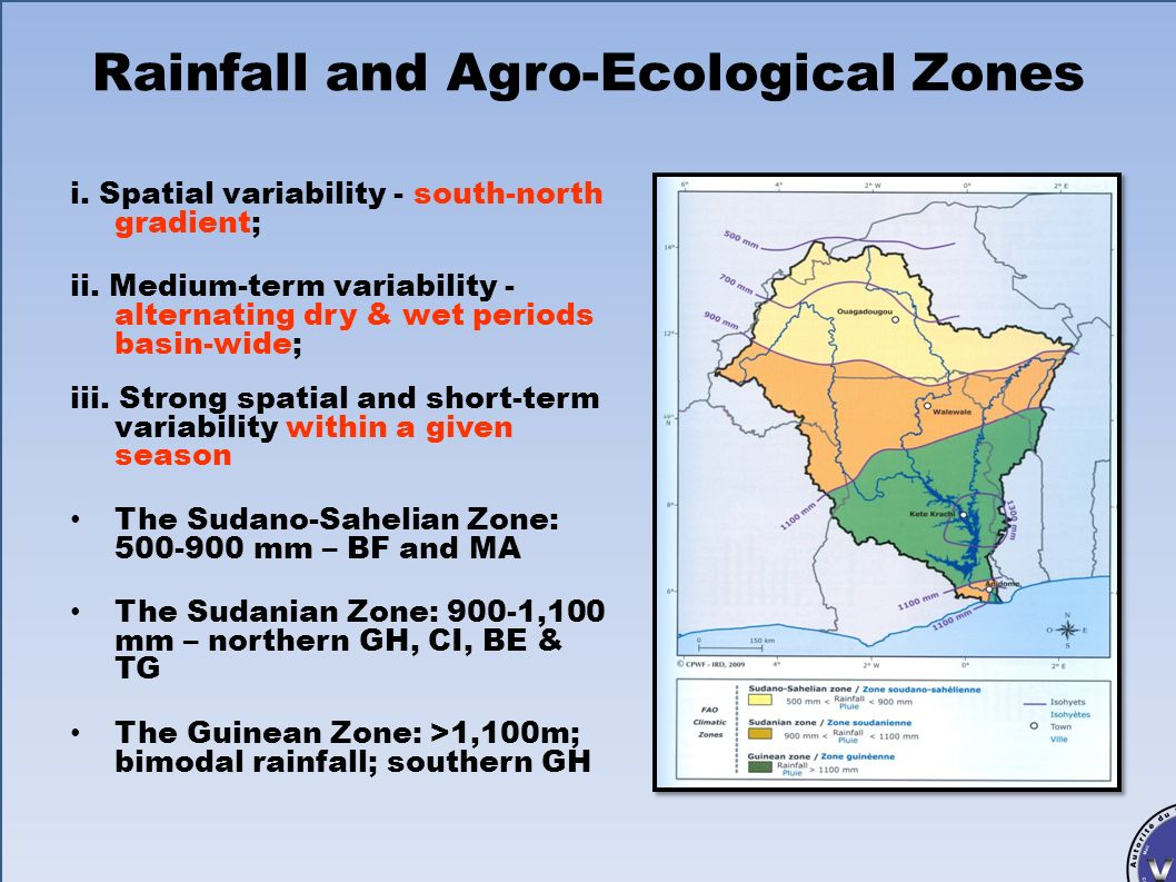 Rainfall and Agro-Ecological Zones