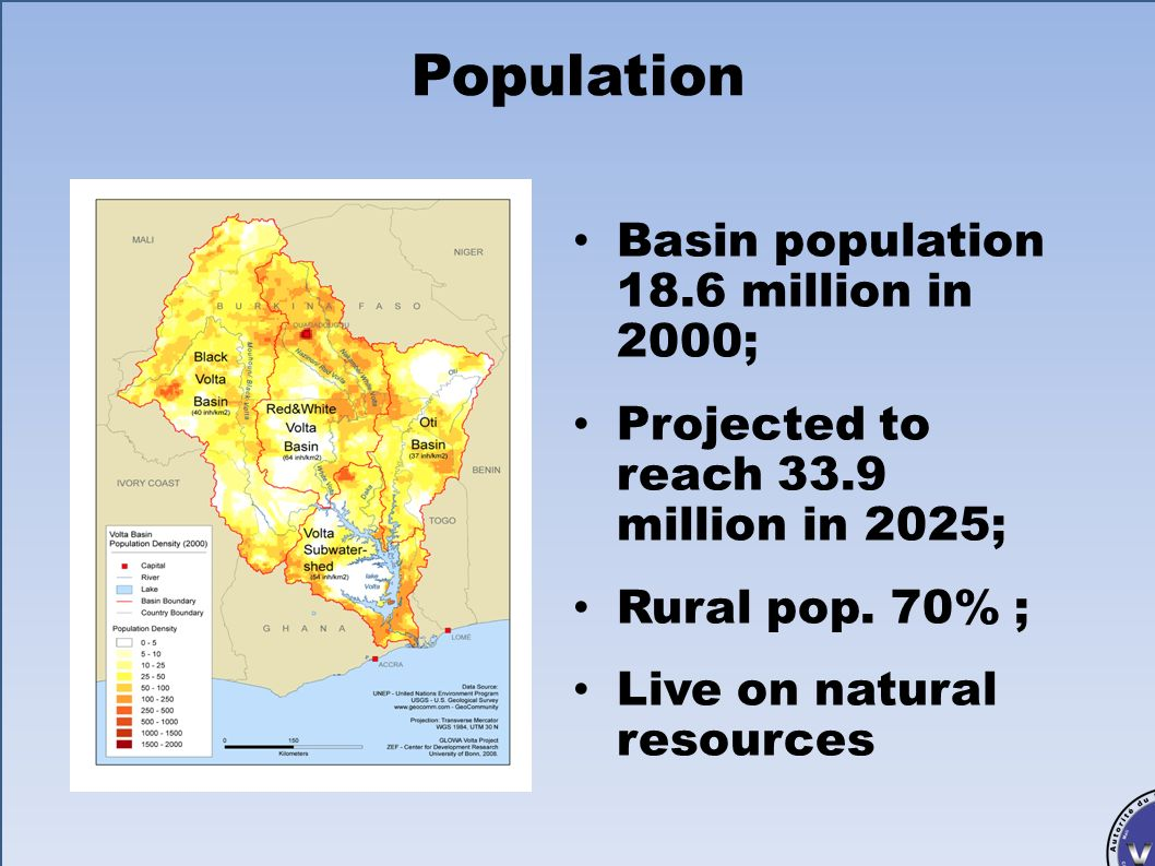 Population Basin population 18.6 million in 2000;