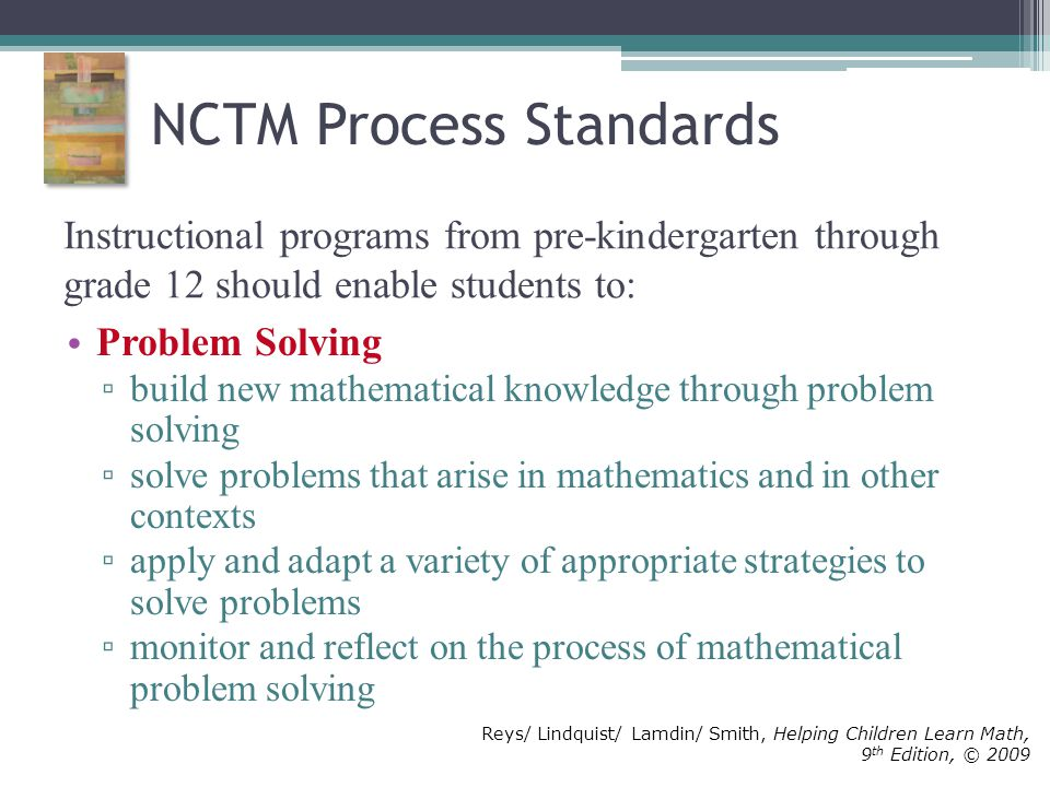 Nctm principles and process standards worksheet