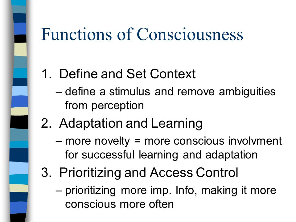 What Is Consciousness How Do I Know When Someone Is