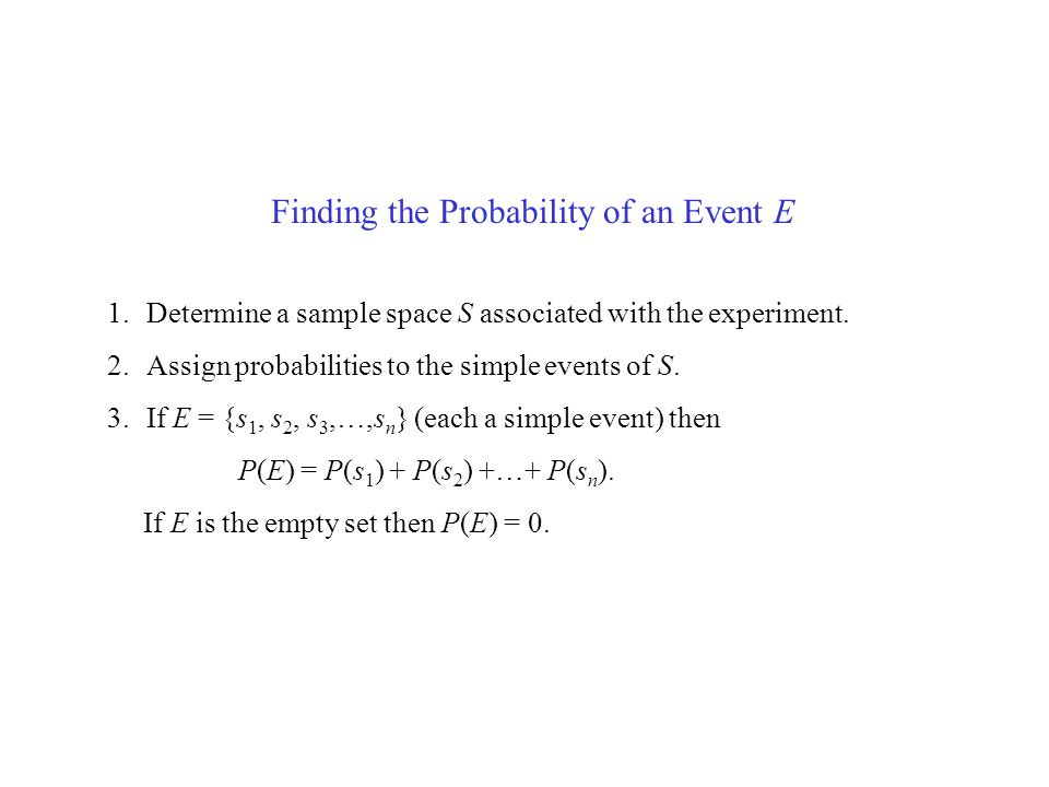 Finding the Probability of an Event E