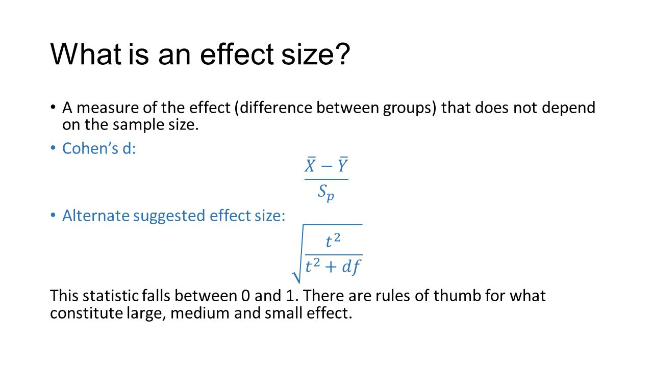 sampling and effect size Get expert answers to your questions in effect size and sample size and more on researchgate, the professional network for scientists.