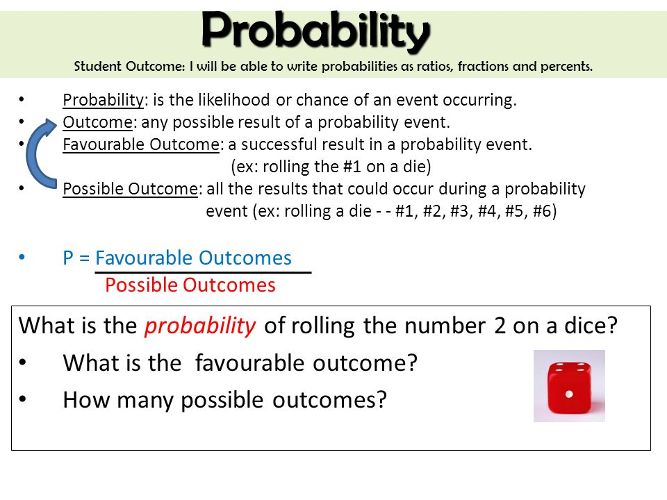 probability what is the probability of rolling the number 2 on a dice ppt video online download. Black Bedroom Furniture Sets. Home Design Ideas