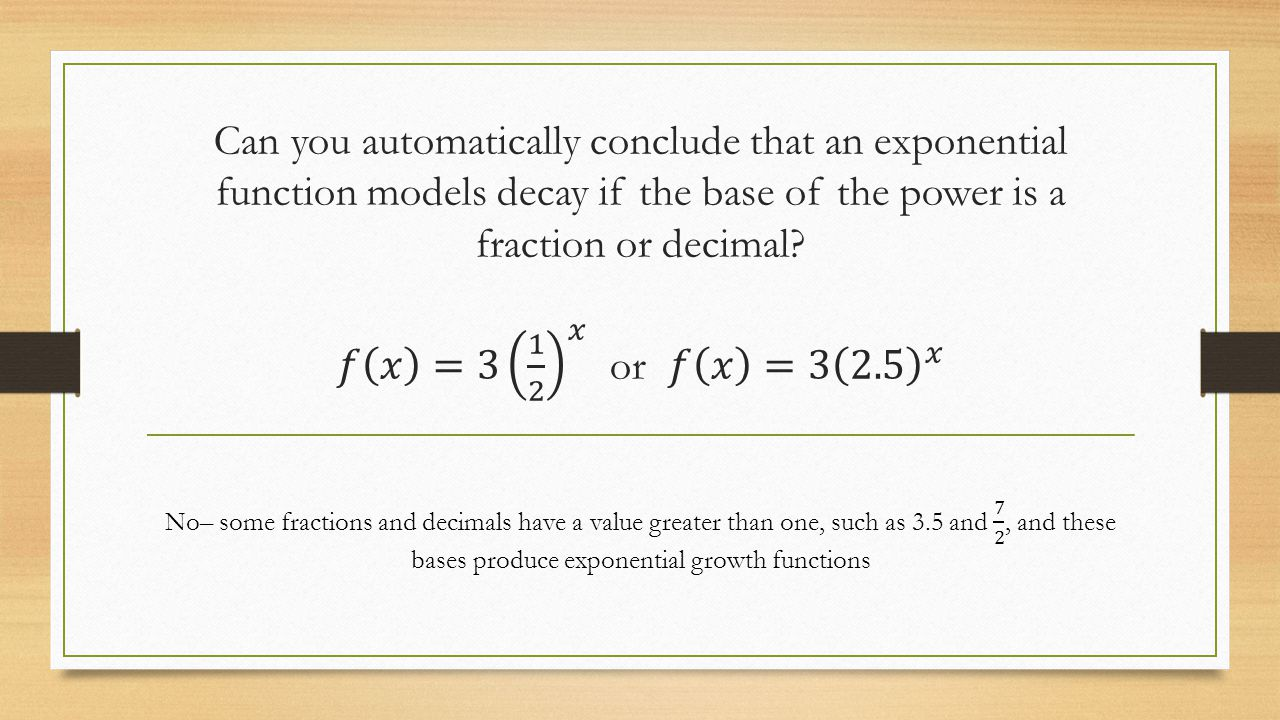 Applications of exponential functions worksheet with answers