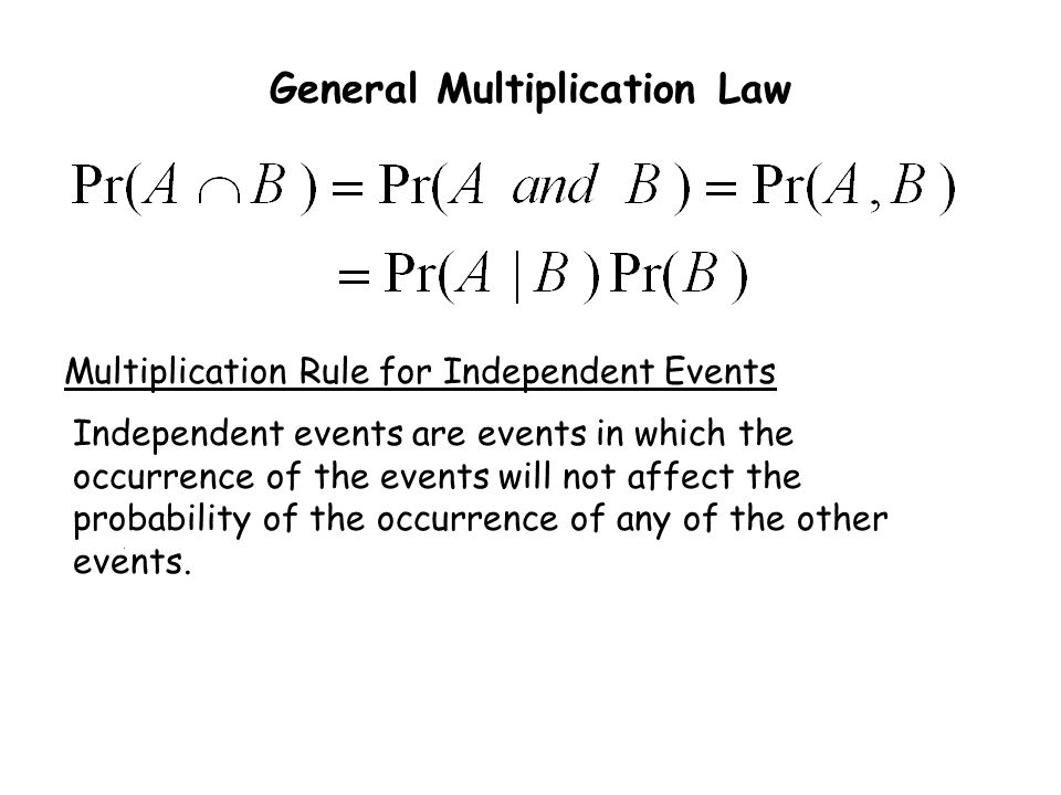General Multiplication Law
