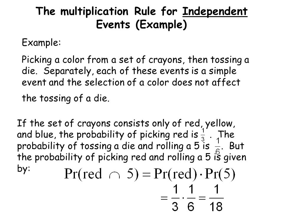 The multiplication Rule for Independent Events (Example)