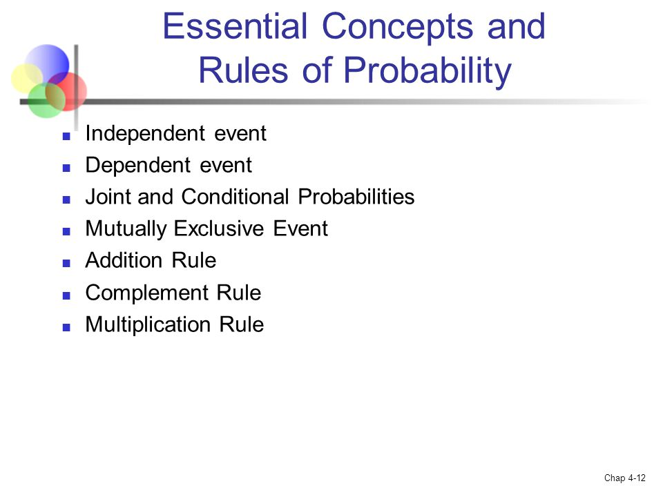 Essential Concepts and Rules of Probability