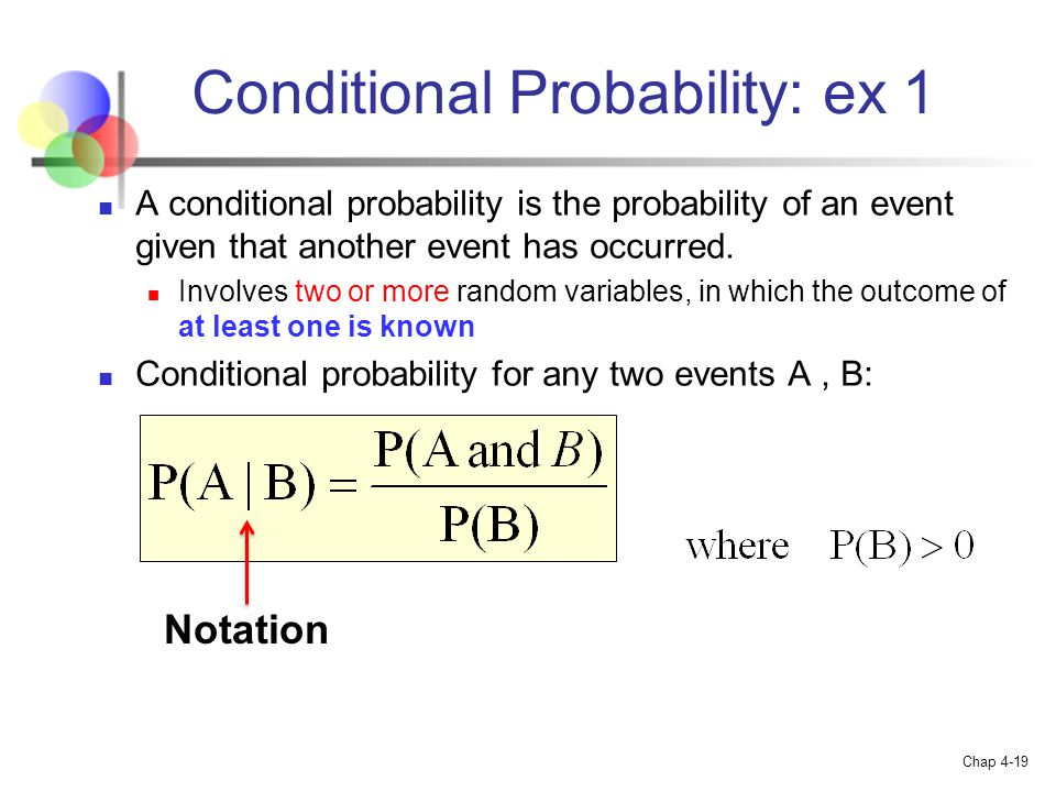 Conditional Probability: ex 1