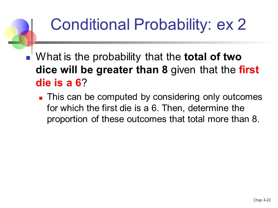 Conditional Probability: ex 2