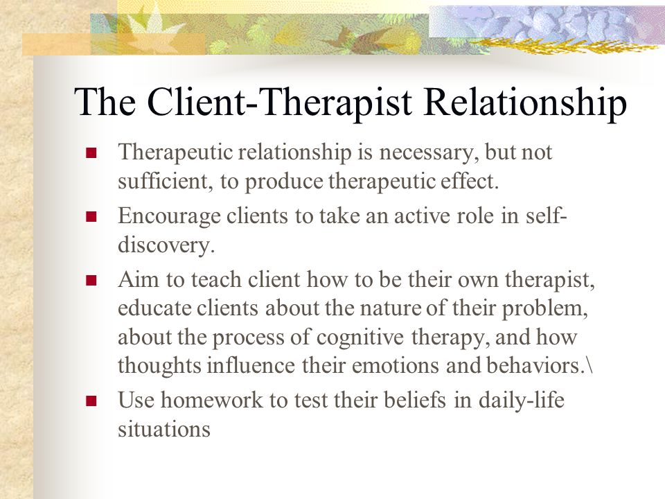 client therapist relationship issues for men