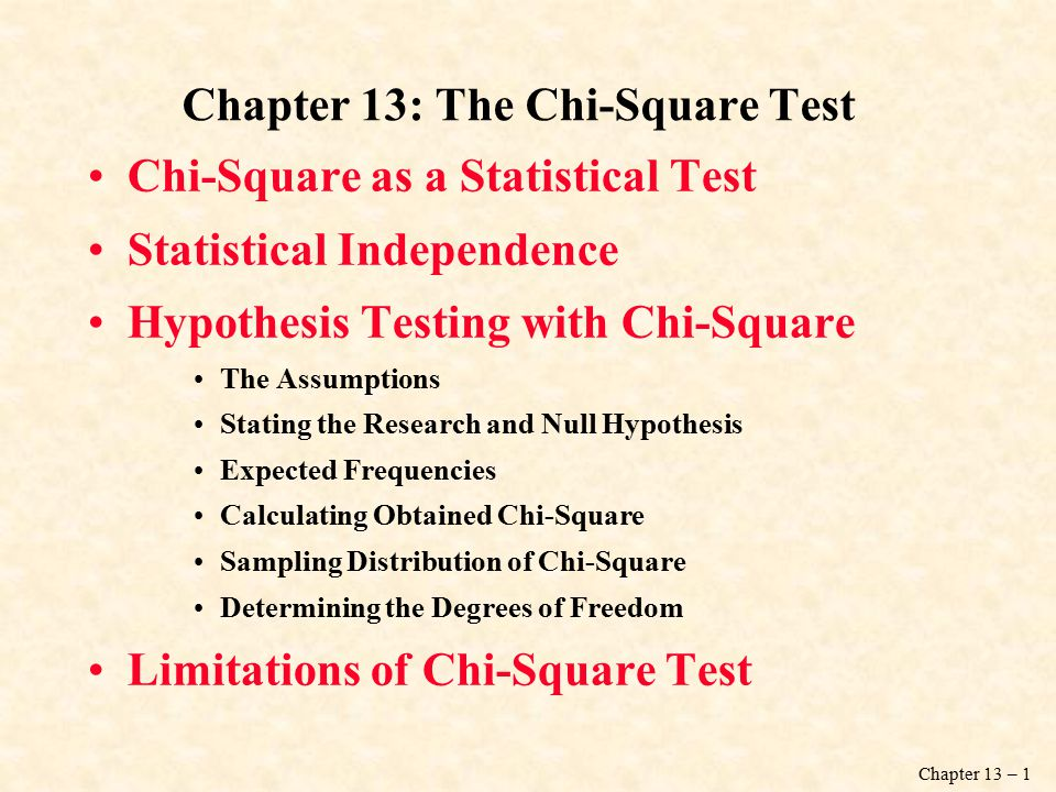 Chapter 13 The ChiSquare Test ppt download – Chi Square Worksheet