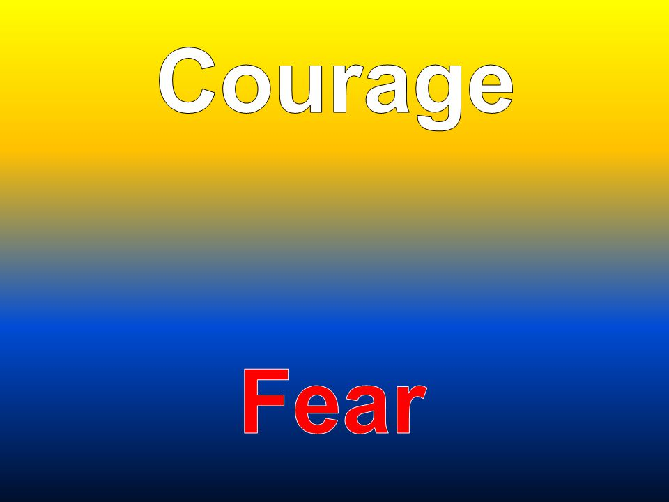 Courage Fear