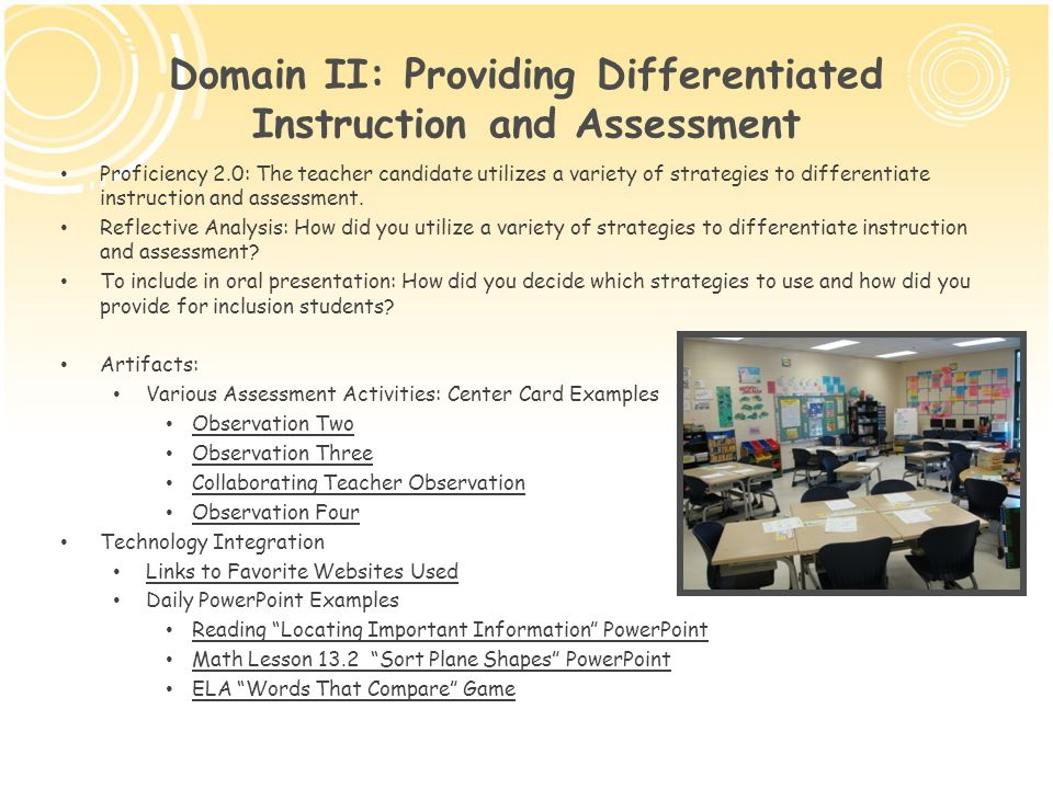 inclusion and differentiated instruction