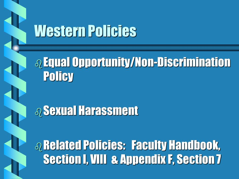 Western Policies Equal Opportunity/Non-Discrimination Policy