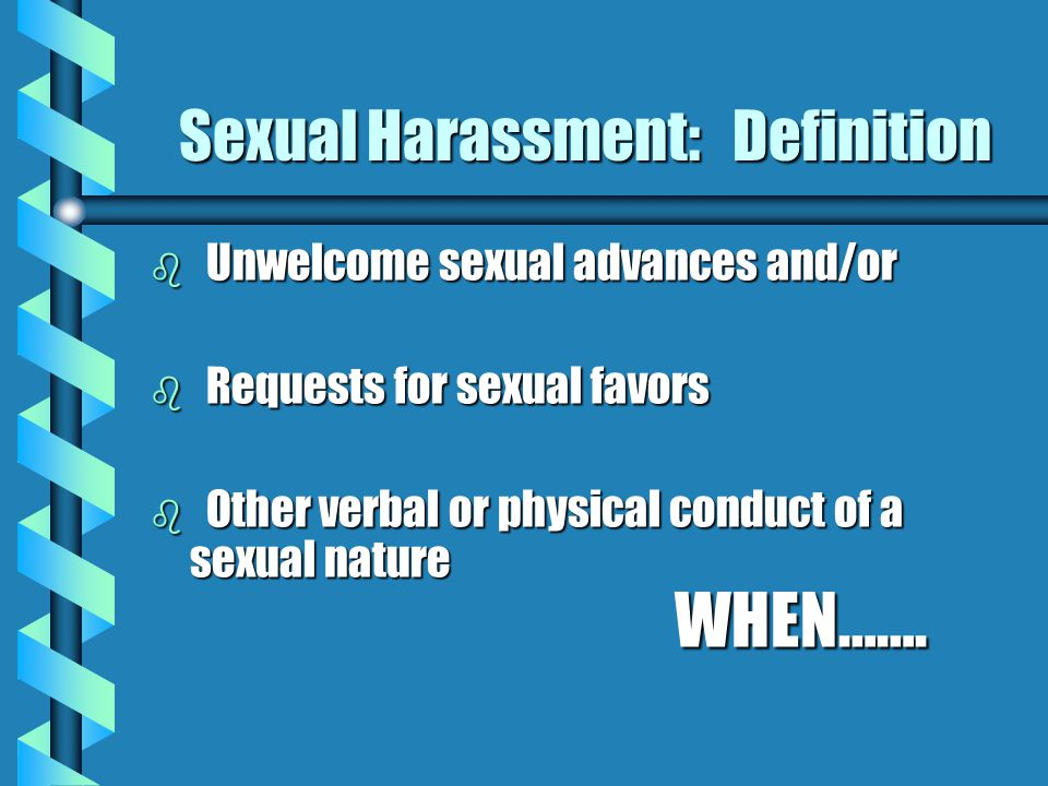 Sexual Harassment: Definition