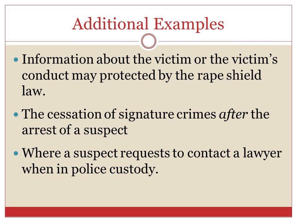 understanding the rape shield law Massachusetts rape shield law explained and most people can understand why there exist rape shield laws, which prevent the defense from introducing evidence of an alleged rape victim's prior sexual history or alleged sexual reputation.