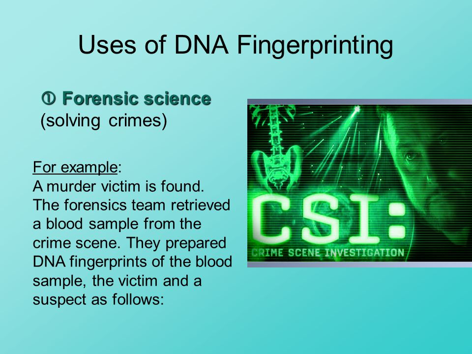 A study of dna fingerprinting