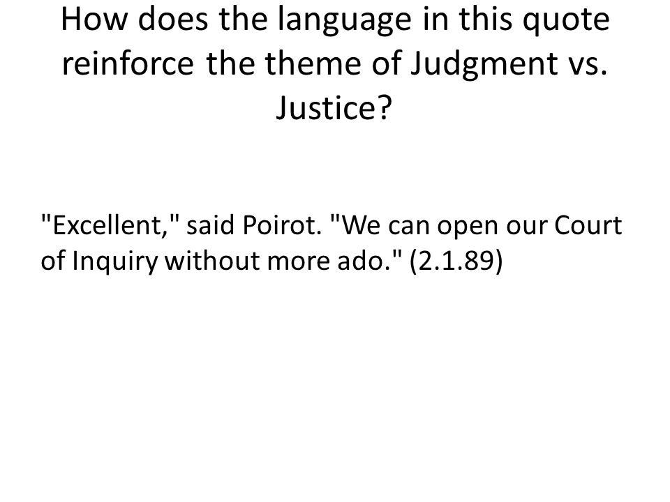 How does the language in this quote reinforce the theme of Judgment vs